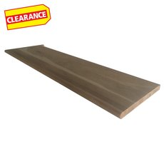 Clearance! Unfinished Left Hand Oak Single Return Stair Retread - 42 in
