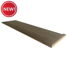 New! Right Hand Oak Single Return Stair Riser - 42 in.