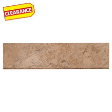 Clearance! Lystra Pecan Porcelain Bullnose