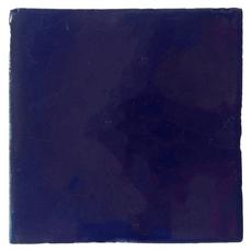 Hand-Painted Blue Talavera Tile (Pattern RT4AC3)