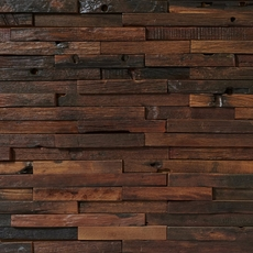 Antiqued Rustic Wood Mosaic