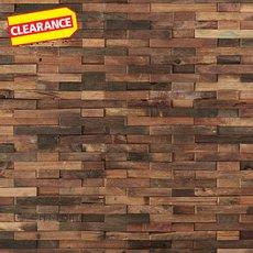 Clearance! Antiqued Brushed Interlocking Wood Mosaic