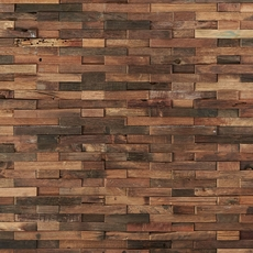 Antiqued Brushed Interlocking Wood Mosaic