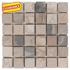 Clearance! Autumn Moss Tumbled Slate Mosaic