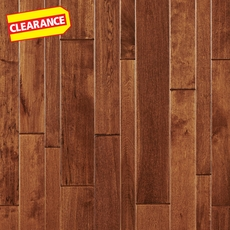 Clearance! Caramel Birch Hand Scraped Solid Hardwood