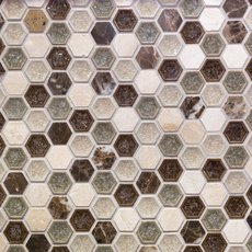 Bershire 1 in. Hexagon Glass Mosaic