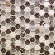 Bershire Hexagon Glass Mosaic