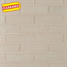 Clearance! Flax Crackle Glass Tile