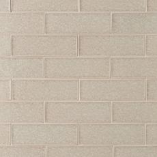 Flax Crackle Glass Tile