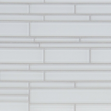 Pure Snow Linear Glass Mosaic
