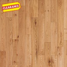 Clearance! Natural Oak Smooth Solid Hardwood