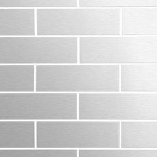 Metropolitan Stainless Steel 2 x 6 in Brick Mosaic