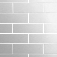 Metropolitan Stainless Steel 2 x 6 in Brick Mosaic