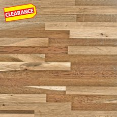 Clearance! Fumed Oak Butcher Block Backsplash 8ft.