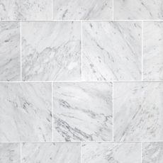 Bianco Carrara Honed Marble Tile 12 X 12 100100973
