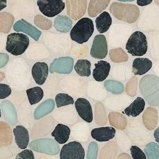 durian river flat pebble stone mosaic - 12 x 12