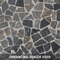 Solo River Gray Pebble Stone Mosaic