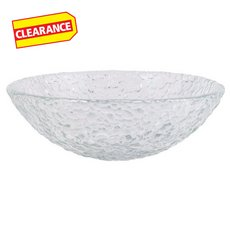 Clearance! Crystal Pebble Glass Sink