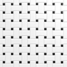 unusual porcelain basket weave tile. White and Black Basket Weave II Porcelain Mosaic Tile  Floor Decor