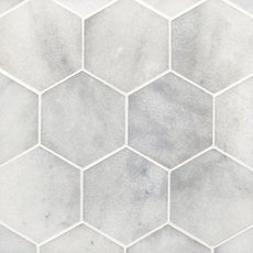 Carrara Milano Hexagon Marble Mosaic