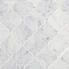 Bianco Carrara Arabesque Marble Mosaic
