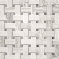Valentino Gray Basket Weave Marble Mosaic