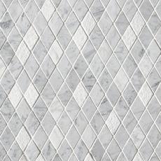 Bianco Carrara Diamond Marble Mosaic