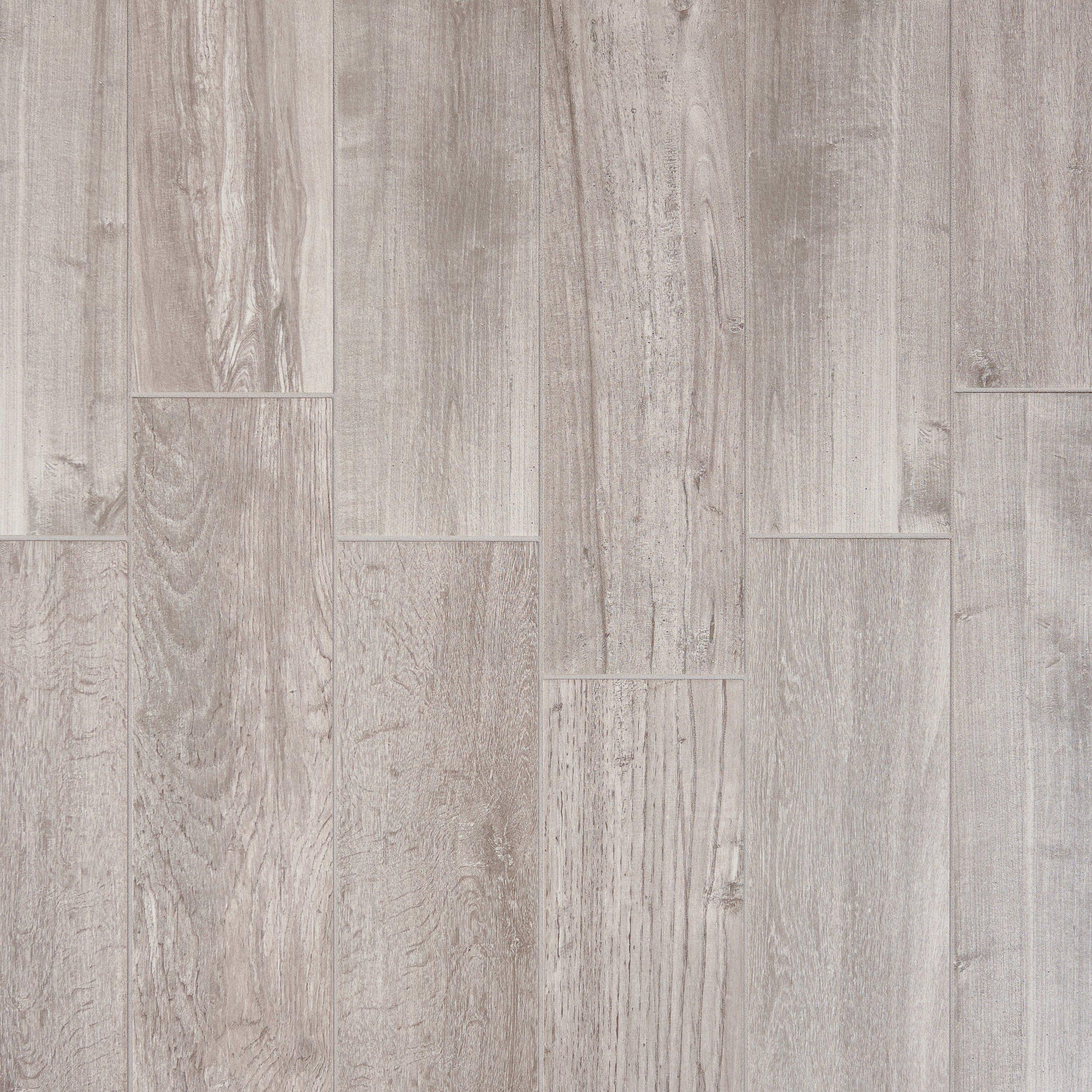 Lumber Gray Wood Plank Porcelain Tile