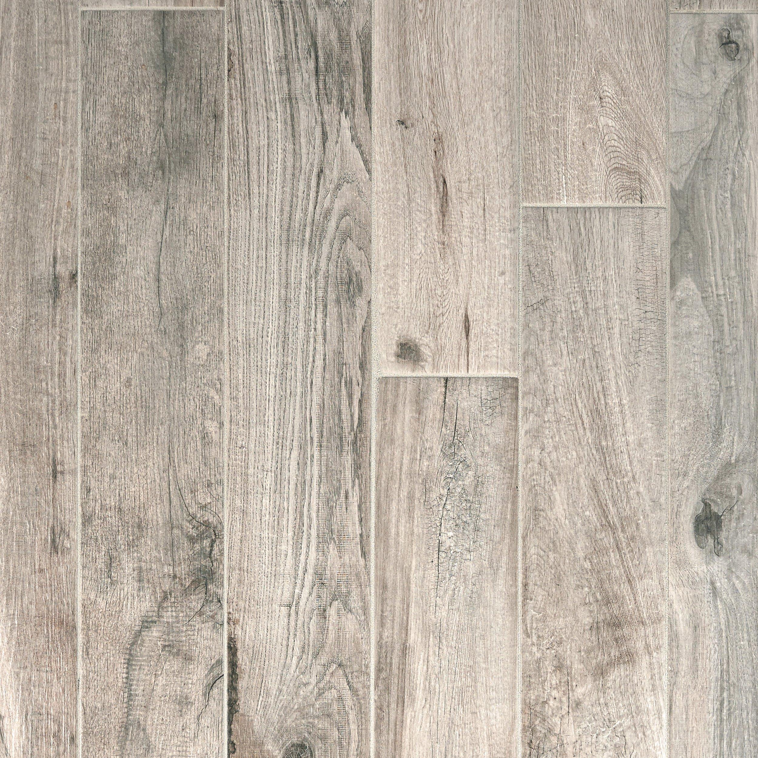 Beau Soft Greige Wood Plank Porcelain Tile
