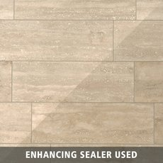 Ivory Vein Cut Honed Travertine Tile 12 X 24 100116029