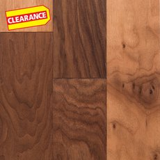 Clearance! Walnut Hand Scraped Engineered Hardwood