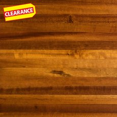 Clearance! Brazilian Tigerwood Butcher Block Countertop 8ft.