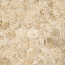 Tarsus Beige Hexagon Porcelain Mosaic