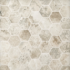 Tarsus Gray Hexagon Porcelain Mosaic