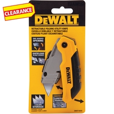 Clearance! DeWalt Folding Retractable Utility Knife