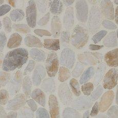 Flat White Honed Pebble Mosaic