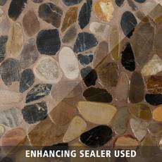 Flat Mixed Honed Pebble Mosaic