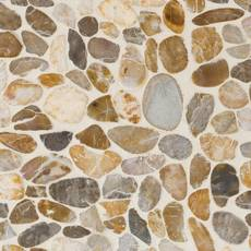 Flat Gold High Polished Pebble Mosaic