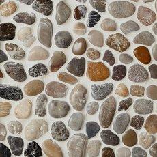 Round Mixed High Polished Pebblestone Mosaic