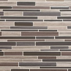 Acadia Driftwood Linear Glass and Stone Mosaic