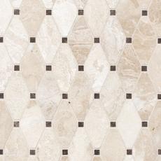 Crema Royal Dia Diamond Polished Marble Mosaic