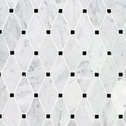 Carrara Clipped Diamond Polished Marble Mosaic