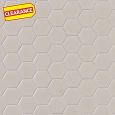 Clearance! Metro Biscuit Matte Hexagon Porcelain Mosaic
