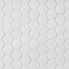 Metro White Matte Hexagon Porcelain Mosaic 12 X 12