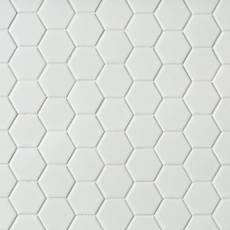 white porcelain tile floor. Metro White Matte Hexagon Porcelain Mosaic  Tile Floor Decor