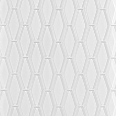 Pure Snow White Elongated Hexagon Glass Mosaic
