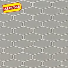 Clearance! Pure Wool Elongated Hexagon Glass Mosaic