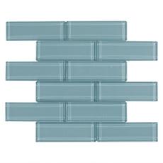 Pure Spa Blue Brick Glass Mosaic