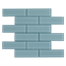 Spa Blue Brick Glass Mosaic