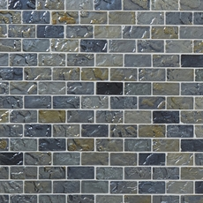 Aegean Shimmer 1 x 2 in. Brick Glass Mosaic